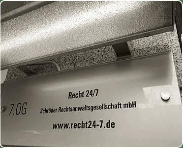 RECHT24-7 Türschild